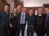 With Ron MacLean, Joseph Boyden and Appleby College Principal, Innes van Nostrand & family at the Appleby Chapel for The Orenda, book reading event : Feb. 4/2015