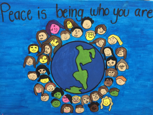 Peace is being who you are, Painted by the Junior Elementary Class